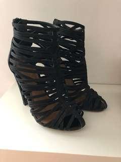 ASOS black suede heels