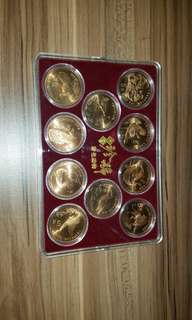罕有人民幣珍稀動物紀念幣全套