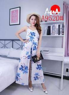 Summer outfit  dress with short  Free size  Chiffon fabric  Fit medium to large 490