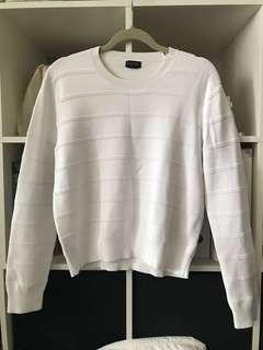 CLUB MONACO / white sweater