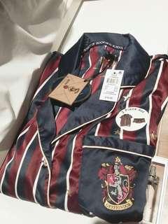 哈利波特Harry Potter英國直購絲質睡衣葛萊芬多