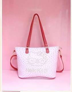 Hello Kitty Dotted Print Shoulder Bag