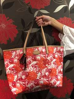 Authentic Coach floral tote large
