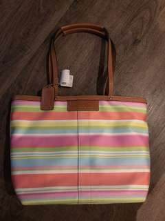 Authentic Coach colourful tote small NEW with tags