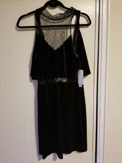 Design Lab Black lace dress