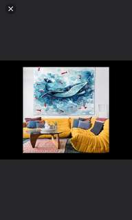 (2件/2pieces) 布藝布簾風水掛牆簾 (130cm寬148cm高) (homeone系列) (家居系列) (包Buyup自取) (decoration polyster tapestry)