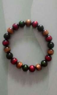 Gelang mix gold. Red.and green tali arus