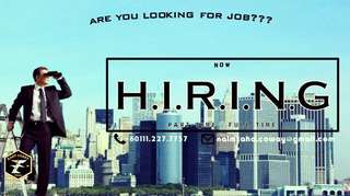 are you JOBLESS?? LOOKING for JOB?? don't hesitate to drop your RESUME or CONTACT