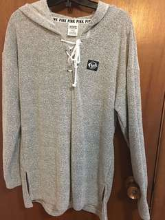 PINK Grey sweater size M