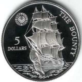 5 Dollars - Elizabeth II The Bounty 5 Dollar 5美元 - 伊麗莎白二世賞金