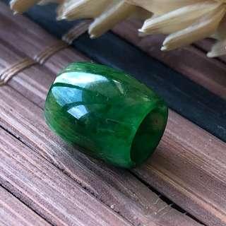 Imperial Green A-Grade Type A Natural Jadeite Jade Barrel Pendant No.170418
