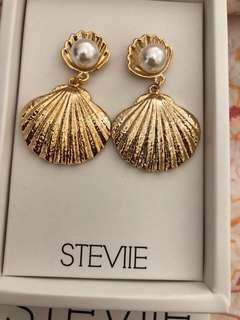Stevie Shell and Pearl Earrings