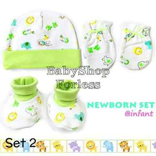 Baby Bonnet, Mittens, and Booties Set - SET 2