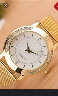 Gold plated metal watch