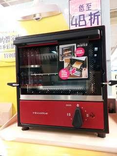 小型焗爐, solo oven avance, 玫瑰红色!  層架配備外置式手柄,安全易用!體積細细易收藏,適合小㕑房!