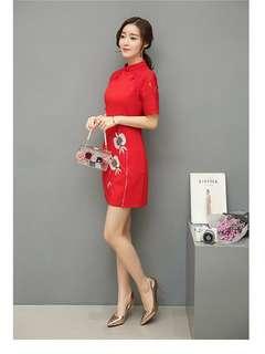 Lace Cheongsam Dress (M-3XL) 667 JPN
