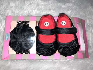 Black terno head/hair band and doll shoes