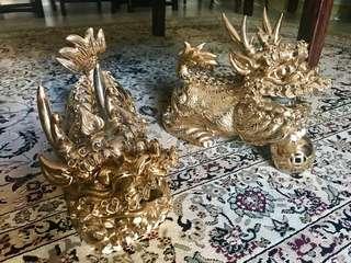 Imperial Golden Kirin Pair