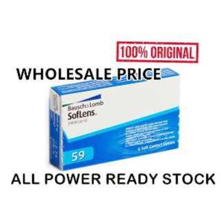 (FREE POS)Bausch & Lomb soflens 59 monthly contact lenses