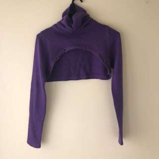 Cropped Purple sweater