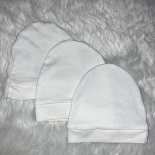 Plain white bonnets