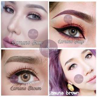 Lamune Gray and Brown Contact Lens. Power 0.00