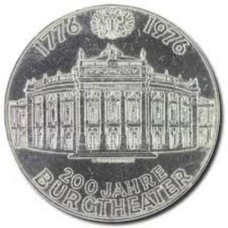 100 Schilling Commemorative issue 200th Anniversary of the Burgtheater