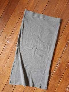 F21 Spandex skirt with slit