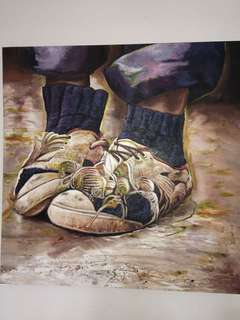 LV shoes Large oil painting ( one type no duplicate)
