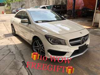 Unreg 2014 Mercedes Benz CLA45 AMG 2.0cc WHITE