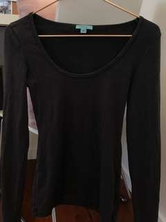 Kookai Grey Long Sleeve Basic