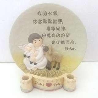 聖經詩篇六十二篇陶瓷擺件Holy.Bible Psalm 62:5 Porcelain Round Plate