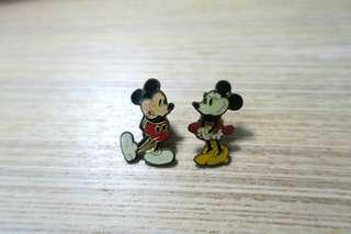 90年代絕版迪士尼米奇老鼠襟章pin