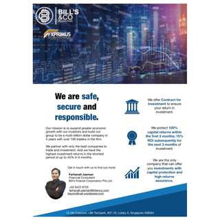 Mudharabah Funding with protected capital and assured high returns. Safe, Secure & Protected.