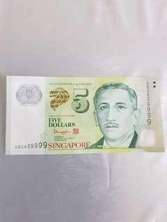 $5  NICE NUMBER