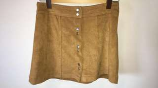 Bardot, tan brown button down skirt