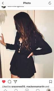 Black, low jumpsuit