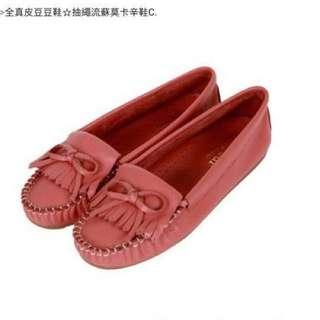 🚚 全新♥️♥️Bonjour全真皮豆豆鞋 大尺碼女鞋