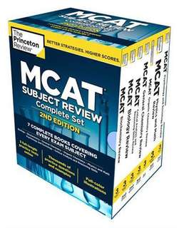 2017 Princeton Review MCAT Review Books w/ Online Practice Tests