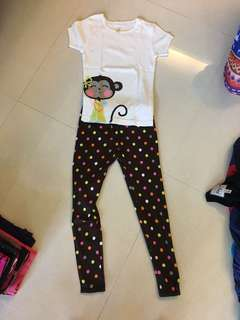 Girl pajamas set 5Y