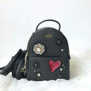 Kate spade finer things merry mini backpack BLACK Size: 21cm x 16cm