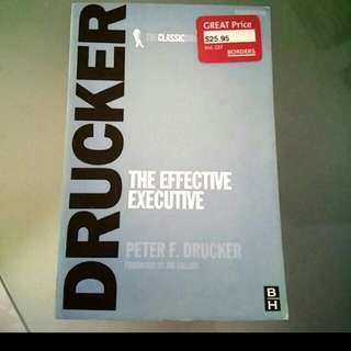 Bn The Effective executive by Peter Drucker