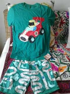 Kaos+celana pendek