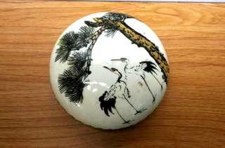 金門陶瓷  印泥盒