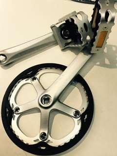 Brompton 2018 titanium model stock crank and pedals