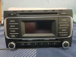 Kia Rio Stock Head Unit Stereo with Panel