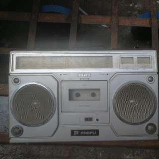 80年代台灣製造PAEFU舊款原子粒收音機$60