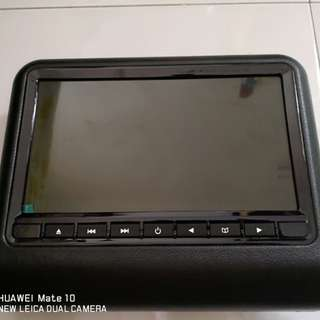 Headrest monitor with dvd player
