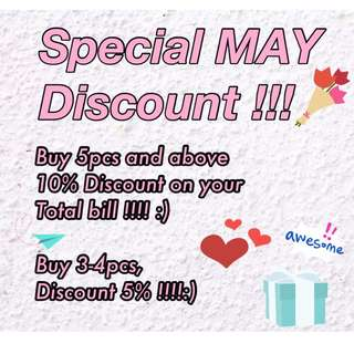 Special Discount On May😎💕💕
