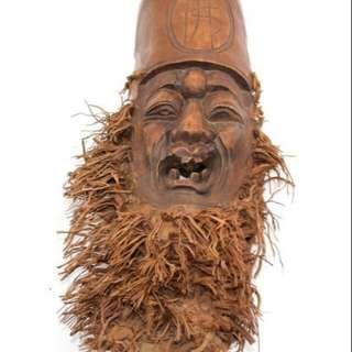 出售收藏 早期 竹筍頭 雕件